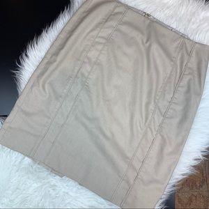 WHBM pencil skirt cream 10 A2